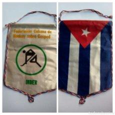 Coleccionismo deportivo: FEDERACIÓN CUBANA DE HOCKEY , INDER. Lote 147339622