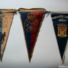 Coleccionismo deportivo: HOCKEY CATALAN , 3 BANDERINES. Lote 147344608