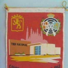 Coleccionismo deportivo: BANDERIN DE LOS CAMPEONATOS NACIONALES . TIRO NACIONAL, 1962 , ZARAGOZA. Lote 147557942