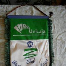 Coleccionismo deportivo: BANDERÍN BALONCESTO UNICAJA CLUB BALONCESTO MÁLAGA . Lote 147756934
