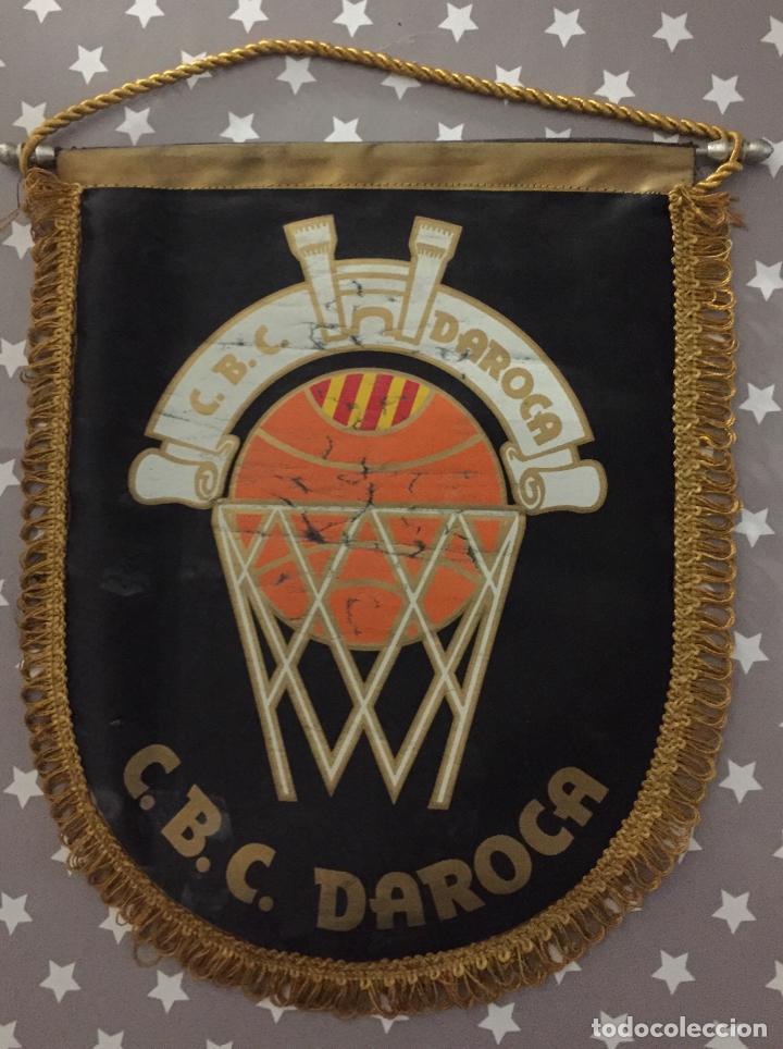 BANDERIN VINTAGE CLUB BASKET CONSERVAS DAROCA, (Coleccionismo Deportivo - Banderas y Banderines otros Deportes)