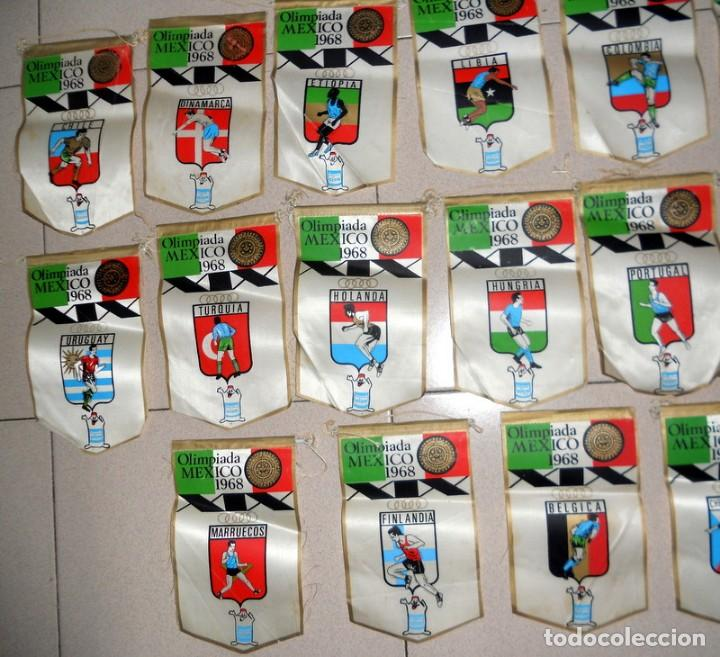 Coleccionismo deportivo: SUPER LOTE 16 BANDERINES BANDERIN OLIMPIADAS MÉXICO 68 JUEGOS OLÍMPICOS PAISES - DETERGENTE GIOR - - Foto 2 - 151892542