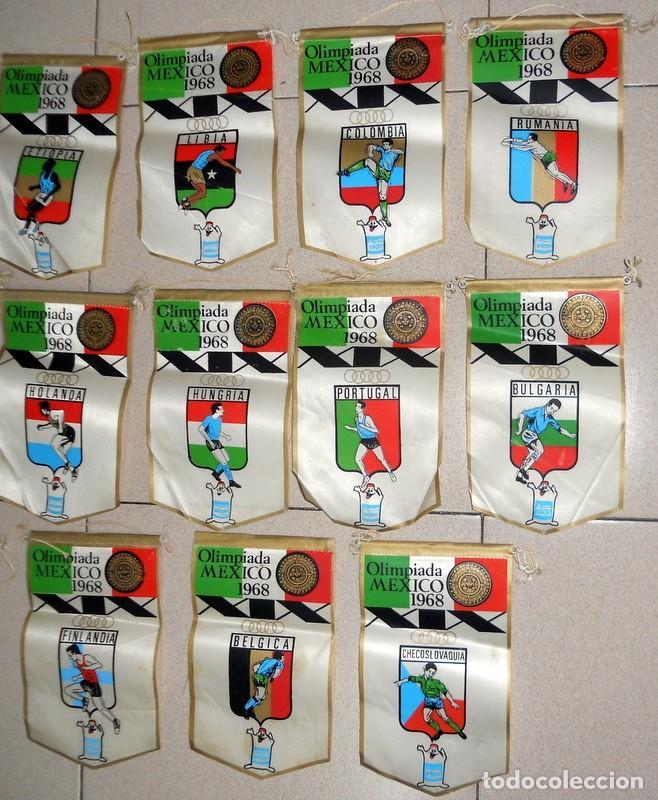 Coleccionismo deportivo: SUPER LOTE 16 BANDERINES BANDERIN OLIMPIADAS MÉXICO 68 JUEGOS OLÍMPICOS PAISES - DETERGENTE GIOR - - Foto 3 - 151892542