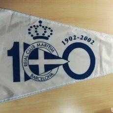 Coleccionismo deportivo: BANDERIN REIAL CLUB MARITIM DE BARCELONA GRANDE. Lote 152906348