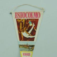 Coleccionismo deportivo: BANDERÍN DE BIMBO DE LOS JUEGOS OLÍMPICOS DE ESTOCOLMO 1912 1936 (OLYMPIC GAMES). Lote 153746634