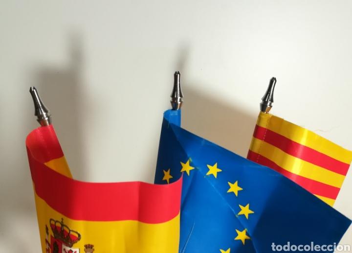 Coleccionismo deportivo: Banderas de mesa JJOO Barcelona 92 - Foto 3 - 154713366