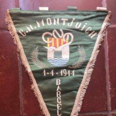 Coleccionismo deportivo: BANDERIN ORIGINAL DEL CLUB NATACION MONTJUICH MONTJUÏCH DE BARCELONA CATALUNYA. Lote 155638334