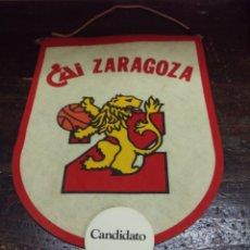 Coleccionismo deportivo: BANDERIN DE BASKET CAI ZARAGOZA AÑOS 80. Lote 158714866