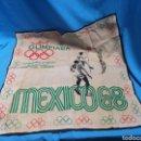 Coleccionismo deportivo: ANTIGUO PAÑUELO OLIMPIADA MÉXICO 68 CAMPEONATOS DE ESPAÑA DE BALONVOLEA FEDERACIÓN CATALANA. Lote 160167860