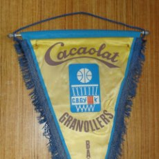Coleccionismo deportivo: BANDERIN CACAOLAT GRANOLLERS BASQUET. Lote 160197794