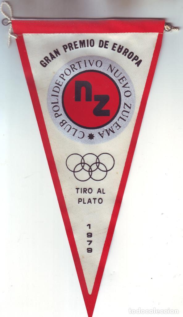 BANDERÍN GRAN PREMIO DE EUROPA DE TIRO AL PLATO 1979 CLUB POLIDEPORTIVO NUEVO ZULEMA (Coleccionismo Deportivo - Banderas y Banderines otros Deportes)
