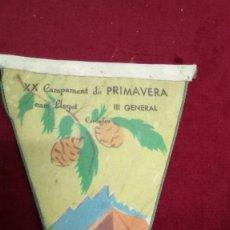 Coleccionismo deportivo: XX CAMPAMENT DE PRIMAVERA CAN LLEGET III GENERAL CARDEDEU 27-28 MAYO 1961. Lote 161881242