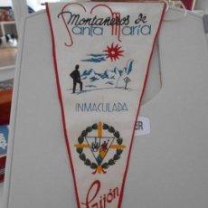 Coleccionismo deportivo: MONTAÑEROS DE SANTA MARIA INMACULADA. GIJON. BANDERIN.. Lote 165755238