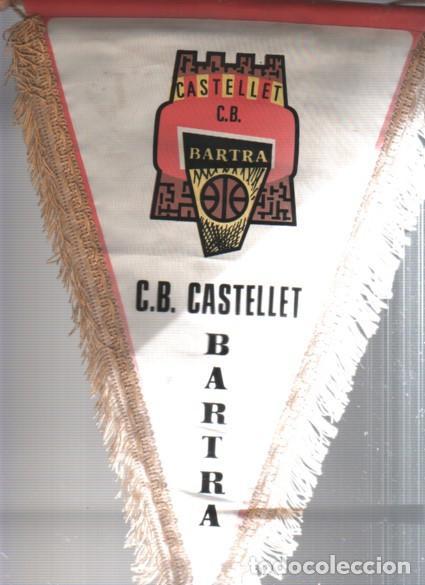 INTERESANTE Y RARO BANDERIN DE CLUB DE BASKET BALONCESTO SANT VICENTS DE CASTELLET BARTRA (Coleccionismo Deportivo - Banderas y Banderines otros Deportes)