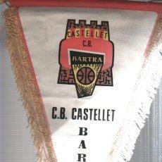 Coleccionismo deportivo: INTERESANTE Y RARO BANDERIN DE CLUB DE BASKET BALONCESTO SANT VICENTS DE CASTELLET BARTRA. Lote 165789762