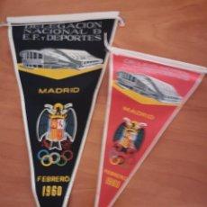 Coleccionismo deportivo: BANDERIN DELEGACIÓN NACIÓNAL D. E. F DEPORTES 1960. Lote 165840854