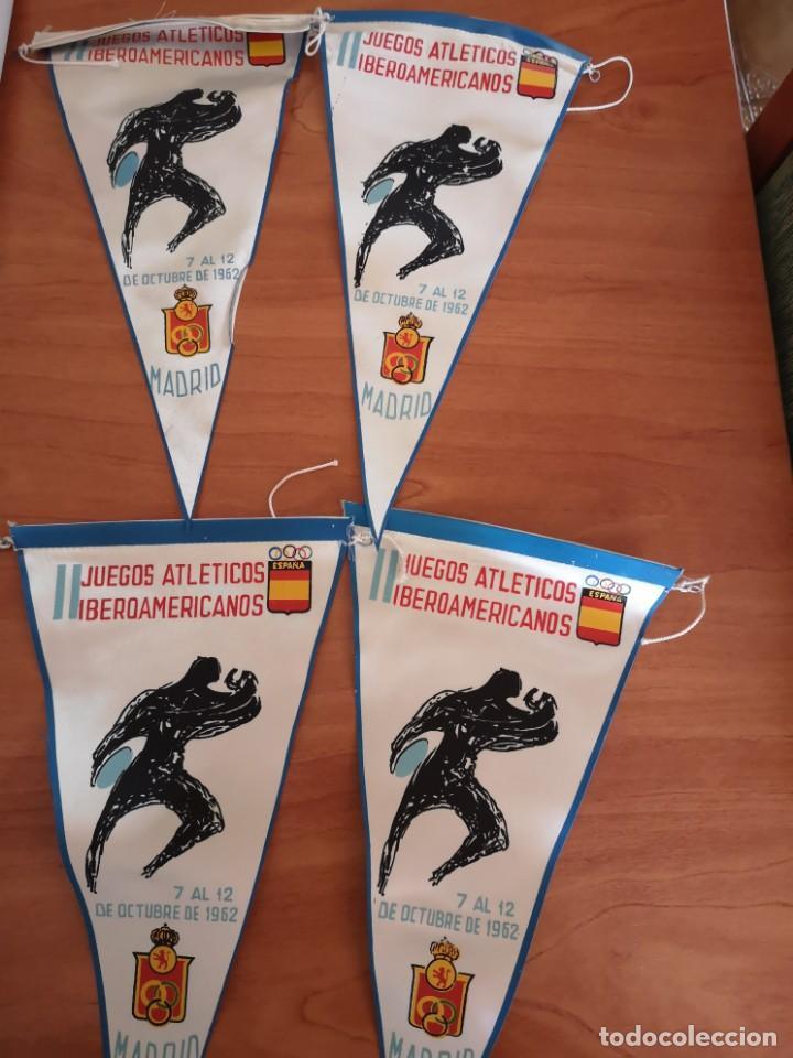 BANDERIN JUEGOS ATLÉTICOS IBEROAMERICANOS 1962 (Coleccionismo Deportivo - Banderas y Banderines otros Deportes)