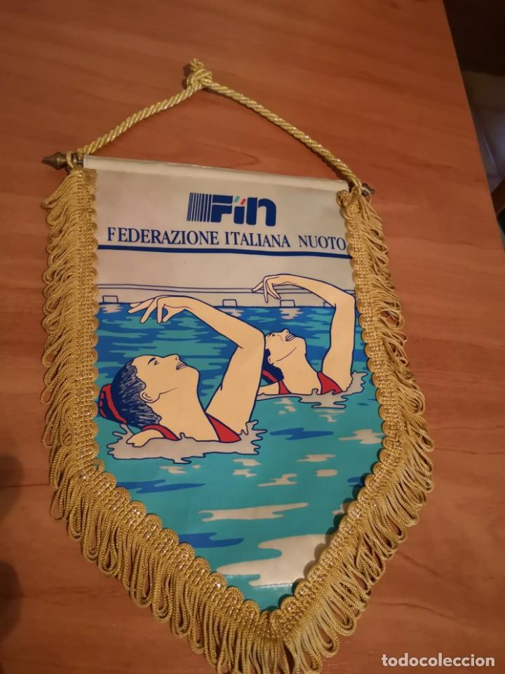 BANDERIN FEDERACIÓN ITALIANA DE NATACIÓN (Coleccionismo Deportivo - Banderas y Banderines otros Deportes)