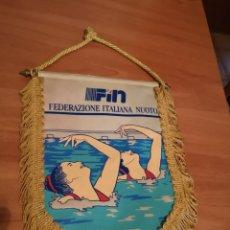 Coleccionismo deportivo: BANDERIN FEDERACIÓN ITALIANA DE NATACIÓN . Lote 169227712