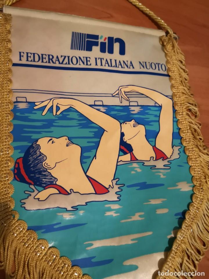 Coleccionismo deportivo: Banderin federación italiana de natación - Foto 2 - 169227712