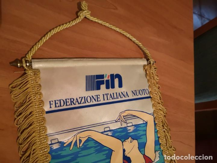 Coleccionismo deportivo: Banderin federación italiana de natación - Foto 5 - 169227712