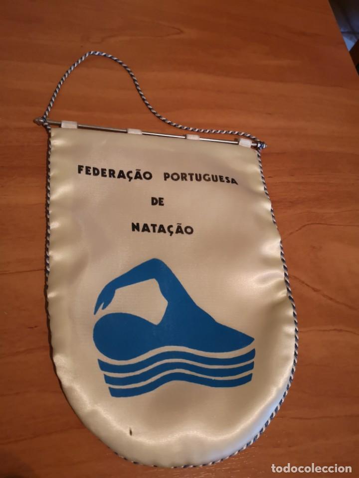 BANDERIN FEDERACIÓN PORTUGUESA DE NATACIÓN (Coleccionismo Deportivo - Banderas y Banderines otros Deportes)