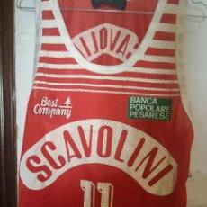 Coleccionismo deportivo: RENZO VECHIATO SCAVOLINI MATCH WORN LEGEND ITALIA BASKET BASQUET CAMISETA SHIRT. Lote 169802724