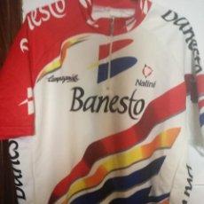 Coleccionismo deportivo: MIGUEL INDURAIN BANESTO VINTAGE CYCLING LEGEND MAILLOT CICLISMO CICLISTA XL . Lote 169802932