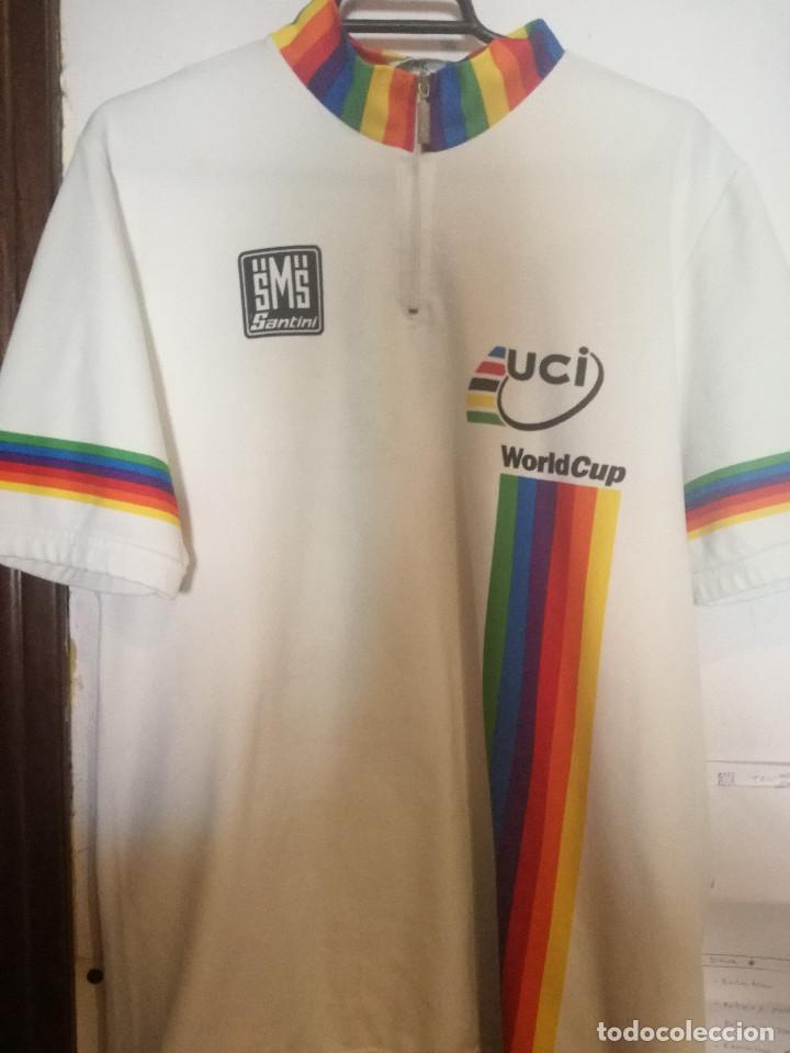 UCI WORLD CUP XXL VINTAGE CYCLING LEGEND MAILLOT CICLISMO CICLISTA XL (Coleccionismo Deportivo - Banderas y Banderines otros Deportes)