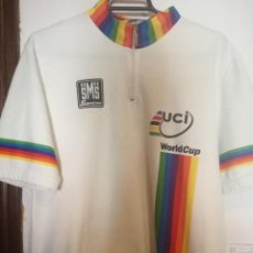 Colecionismo desportivo: UCI WORLD CUP XXL VINTAGE CYCLING LEGEND MAILLOT CICLISMO CICLISTA XL . Lote 169803096