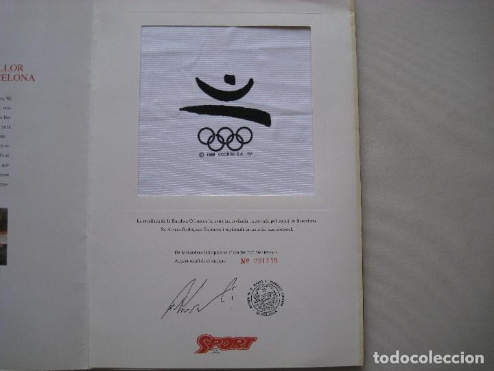 BANDERA OLIMPICA BARCELONA 92 (Coleccionismo Deportivo - Banderas y Banderines otros Deportes)