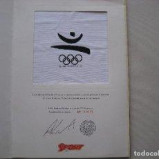 Coleccionismo deportivo: BANDERA OLIMPICA BARCELONA 92. Lote 170955872