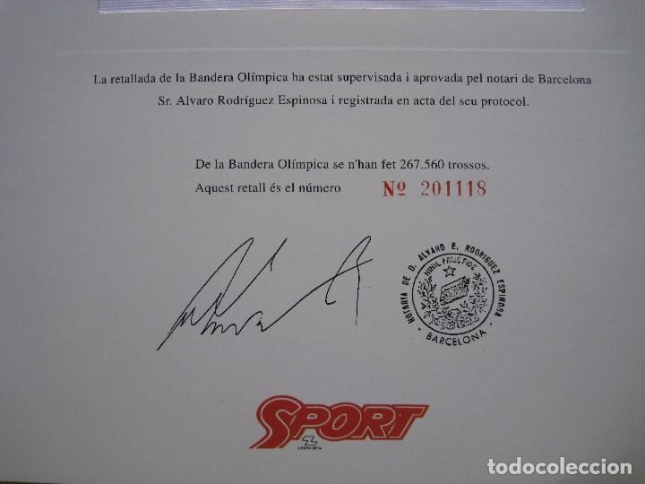 Coleccionismo deportivo: BANDERA OLIMPICA BARCELONA 92 - Foto 2 - 170955872