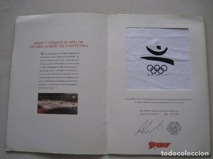 Coleccionismo deportivo: BANDERA OLIMPICA BARCELONA 92 - Foto 4 - 170955872