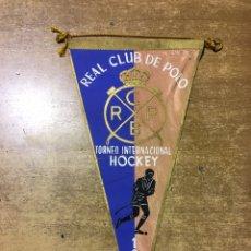 Coleccionismo deportivo: BANDERÍN - TORNEO INTERNACIONAL HOCKEY - 1958 - REAL CLUB DE POLO - BARCELONA. Lote 173281994