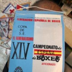 Coleccionismo deportivo: BANDERÍN XLV CAMPEONATO DE ESPAÑA DE BOXEO AFICIONADO 1973 TENERIFE, COPA S.E. EL GENERALÍSIMO. Lote 175546370