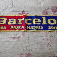 Coleccionismo deportivo: BUFANDA OFICIAL FINAL COPA 2011 FUTBOL CLUB BARCELONA USADA. Lote 175896114