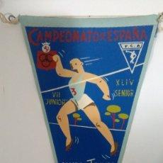 Coleccionismo deportivo: BANDERÍN CAMPEONATO DE ESPAÑA DE CAMPO A TRAVÉS SANTÁNDER 1962. Lote 178023104