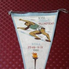 Coleccionismo deportivo: BANDERIN XVII JUEGOS OLIMPICOS ROMA 1960. Lote 178152435