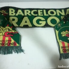 Collectionnisme sportif: BARCELONA DRAGONS SCARF BUFANDA FOOTBALL FUTBOL SCIARPA. Lote 178260217