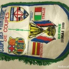 Collectionnisme sportif: FC BARCELONA SAMPDORIA CALCIO 1989 FINAL RARE VERY SCARF BUFANDA FOOTBALL FUTBOL SCIARPA. Lote 178260831