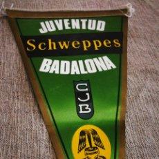 Coleccionismo deportivo: BANDERÍN DE TELA BASKET C. J. B. JUVENTUD BADALONA- SCHWEPPES. 26CM.. Lote 178641712