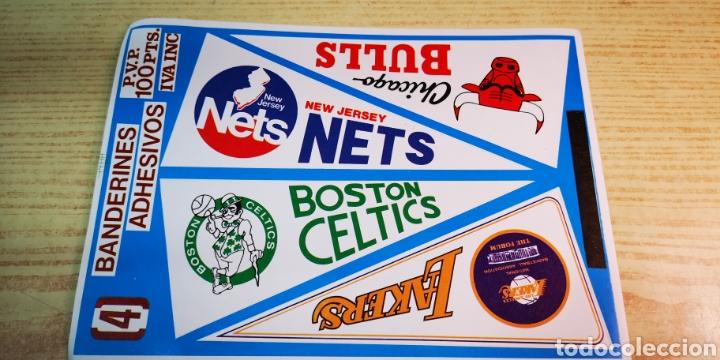 NBA 4 PEGATINAS ADHESIVOS BANDERINES EQUIPOS (Coleccionismo Deportivo - Banderas y Banderines otros Deportes)