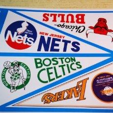 Coleccionismo deportivo: NBA 4 PEGATINAS BANDERINES EQUIPOS. Lote 178947002