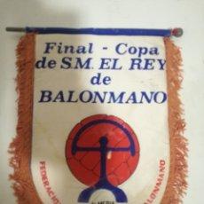 Coleccionismo deportivo: BALONMANO FINAL PENNANT BANDERIN SCARF FUTBOL FOOTBALL BANDERA FLAG . Lote 179243088