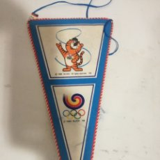 Coleccionismo deportivo: SEOUL KOREA OLIMPIC GAMES 1983 PENNANT BANDERIN SCARF FUTBOL FOOTBALL BANDERA FLAG . Lote 179243167