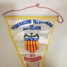 Coleccionismo deportivo: VALENCIA NATACION PENNANT BANDERIN SCARF FUTBOL FOOTBALL BANDERA FLAG . Lote 179243847