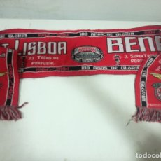 Collectionnisme sportif: BENFICA LISBOA PORTUGAL SCARF FUTBOL FOOTBALL BANDERA FLAG . Lote 179244051