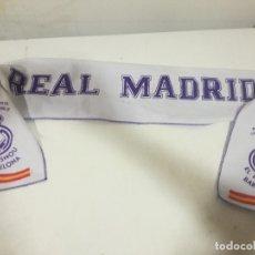 Coleccionismo deportivo: REAL MADRID PEÑA SCARF FUTBOL FOOTBALL BANDERA FLAG . Lote 179244153