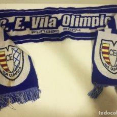 Coleccionismo deportivo: VILA OLIMPICA SCARF FUTBOL FOOTBALL BANDERA FLAG . Lote 179244218